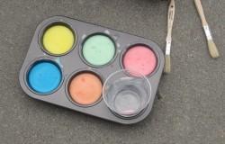 Homemade Sidewalk Paint