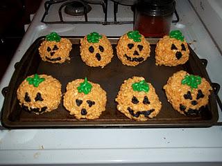 Rice Krispies Pumpkins