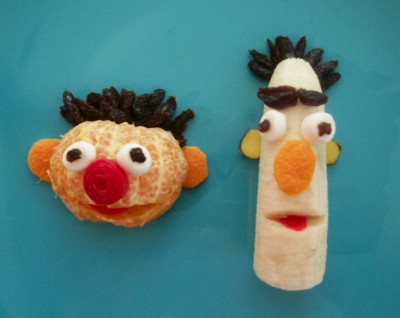 Ernie and Bert Fruit Snack