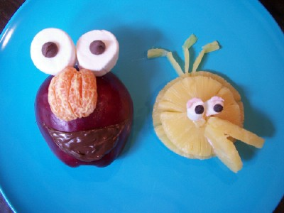 Elmo and Big Bird Fruit