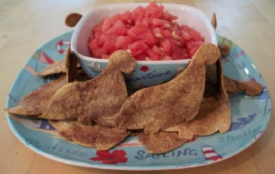 Fun Chips with Watermelon Salsa