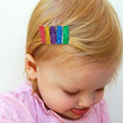 Glittery Hair Clips