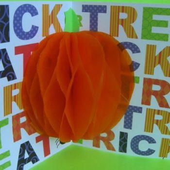 3D Pumpkin Card