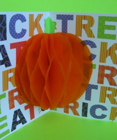 3D Pumpkin Card