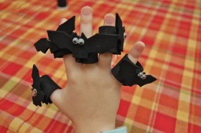 Five Bat Finger Puppet Playset