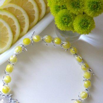 Lemon Drop Candy Necklace