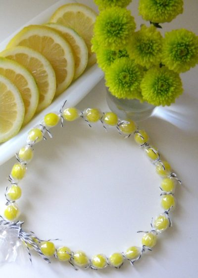 Lemon Drop Candy Necklace