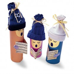 Cardboard Tube Christmas Carolers