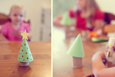 Cardboard Tube Christmas Trees