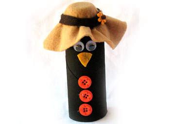 Cardboard Tube Crow