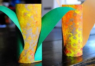 Cardboard Tube Indian Corn