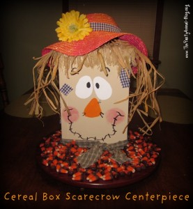Cereal Box Scarecrow