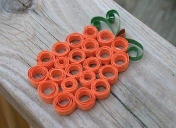 Curled Paper Pumpkin