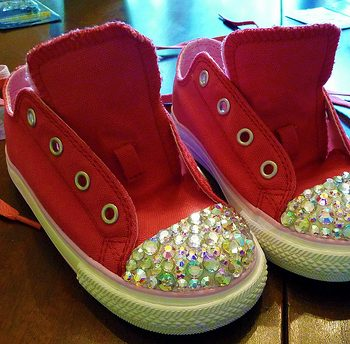 Custom Swarovski Crystals Sneakers