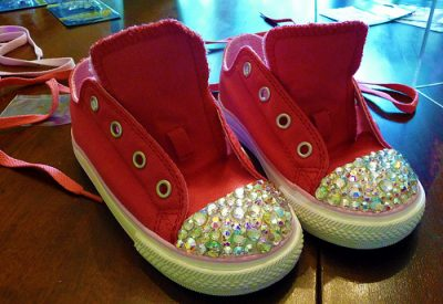 Custom Swarovski Crystals Sneakers
