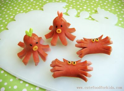 Sea Creature Hot Dogs