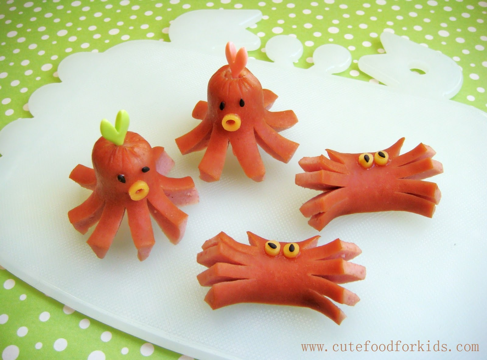 Sea Creature Hot Dogs