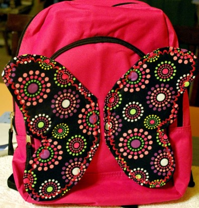 Butterfly Wing Book Bag