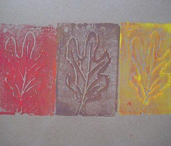 Fall Leaf Printmaking