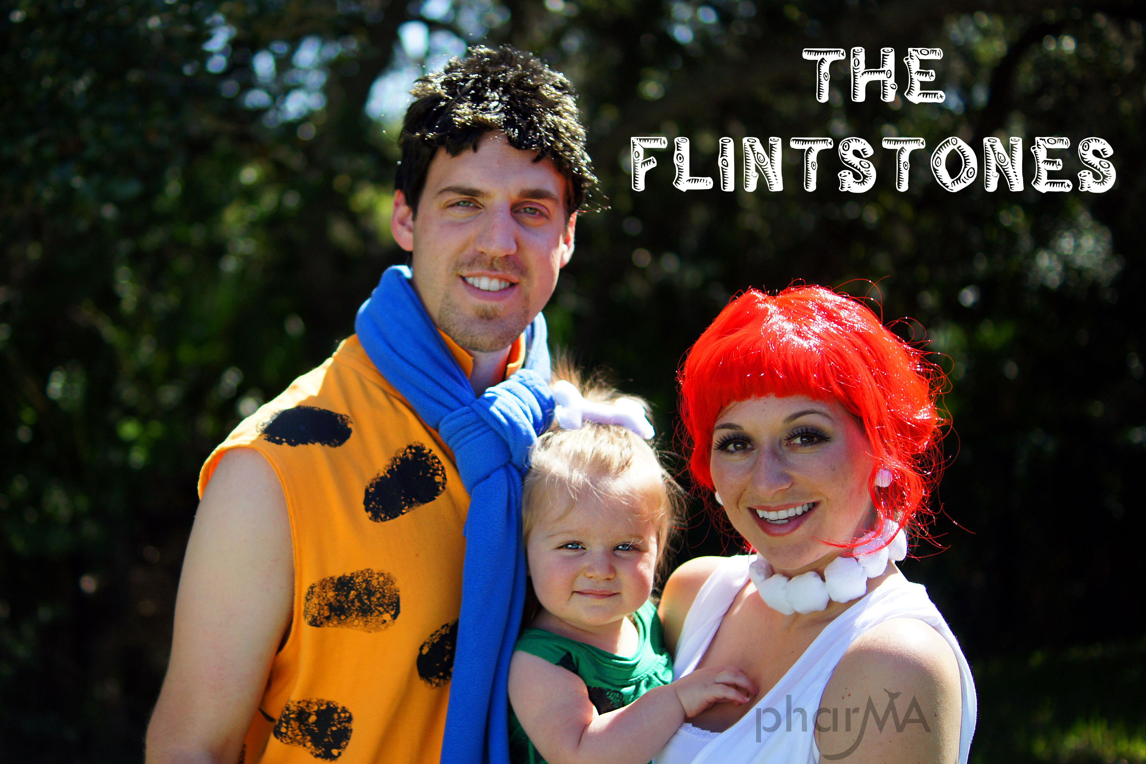 The flintstones family halloween costumes fun family crafts - Disfraz picapiedra casero ...