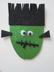 Frankenstein Halloween Craft Magnets