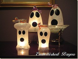 Friendly Ghost Candle Shades