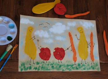 Fruit And Veggie Stamp Friends Fun Family Crafts