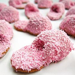 Pink Fuzzy Slipper Cookies