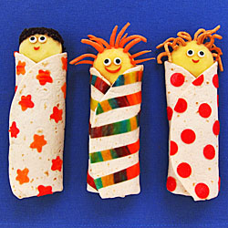 Sleeping Bag Wrap Snacks