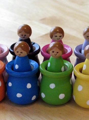 Wooden Matching and Sorting Dolls