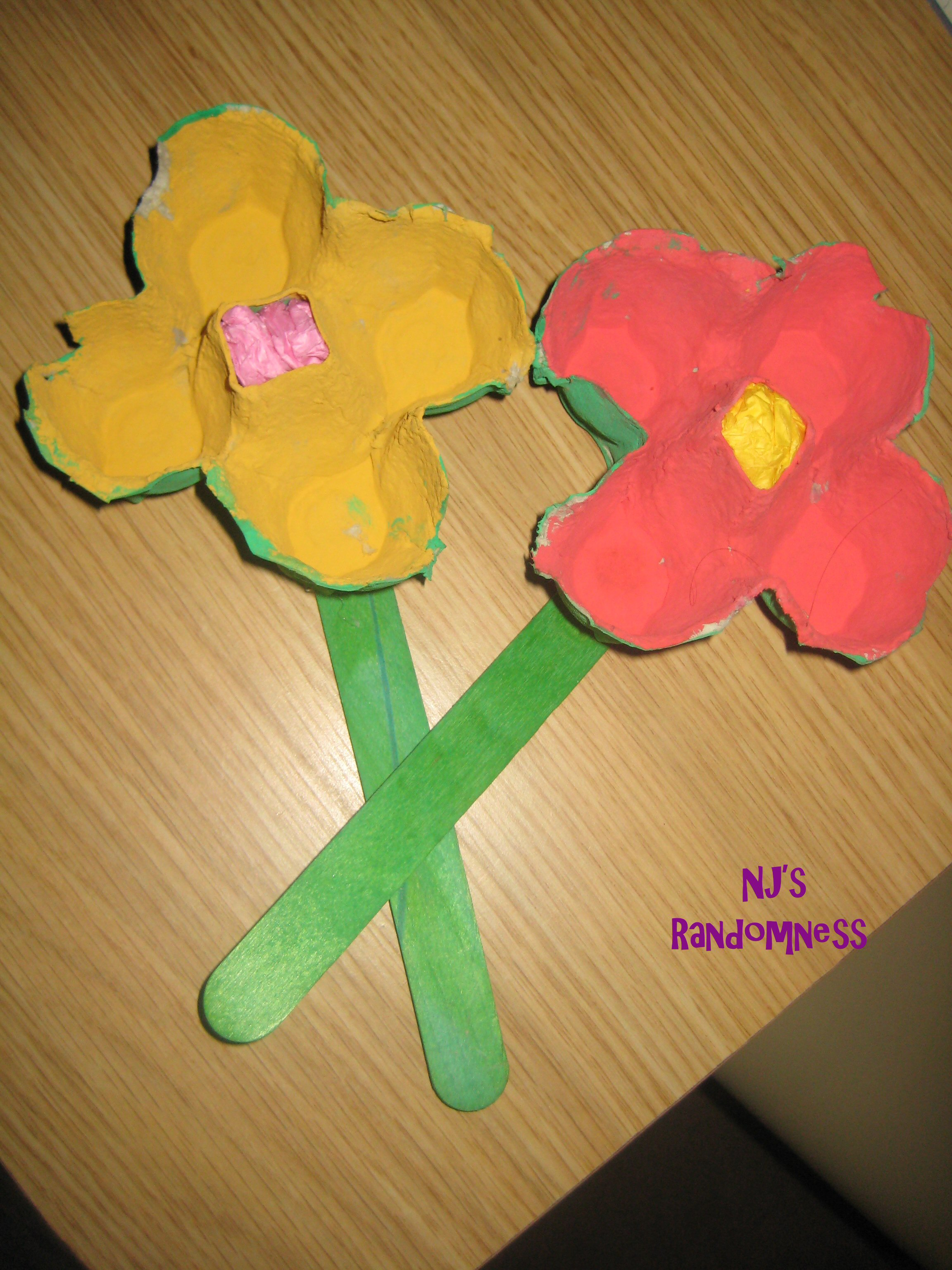 Egg Carton Flowers Fun Family Crafts