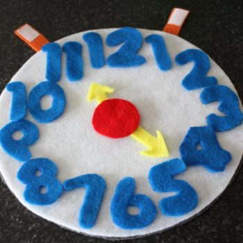 Felt Learning Clock