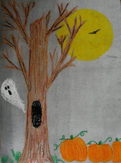 Crayon Resist Halloween Art