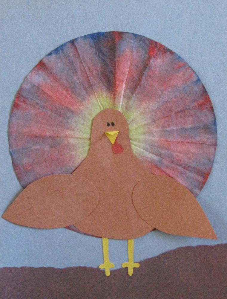 Coffee Filter Turkeys Fun Family Crafts