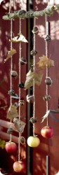 Leaf and Nut Wind Catcher Mobile