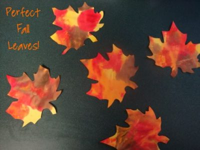 No Mess Finger Paint Leaves