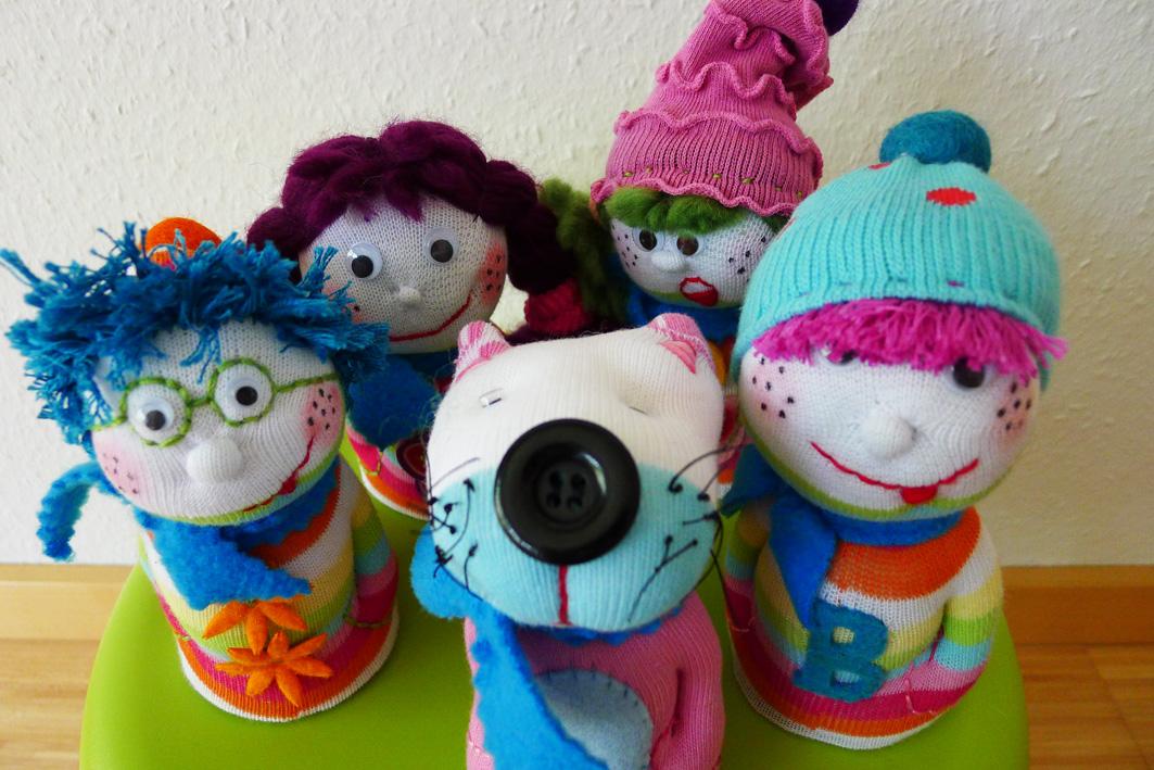 Sock Doll Bowling Set