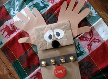 Paper Bag Reindeer