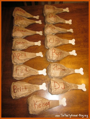 Paper Bag Turkey Leg Place Settings