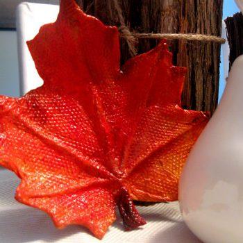 Paper Mache Leaf