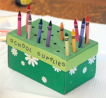 Pencil Box Supply Holder