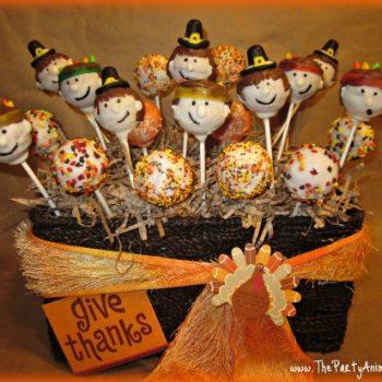 Pilgrim and Indian Cake Pops