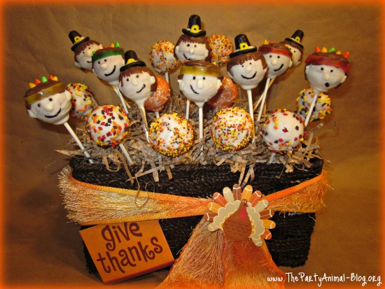 Cake Pop Ideas For Thanksgiving : Pilgrim and Indian Cake Pops Fun Family Crafts