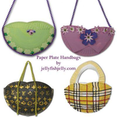 Paper Plate Handbags