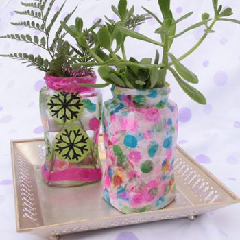 Printed Tissue Paper Covered Jars