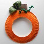 Pumpkin Paper Plate Mask