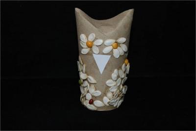 Pumpkin Seed Cardboard Tube Owl