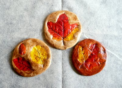 Salt Dough Leaf Prints Fun Family Crafts