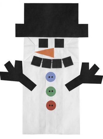 Snowman Paper Bag Puppets