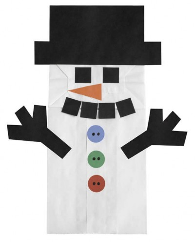snowman paper bag puppets fun family crafts